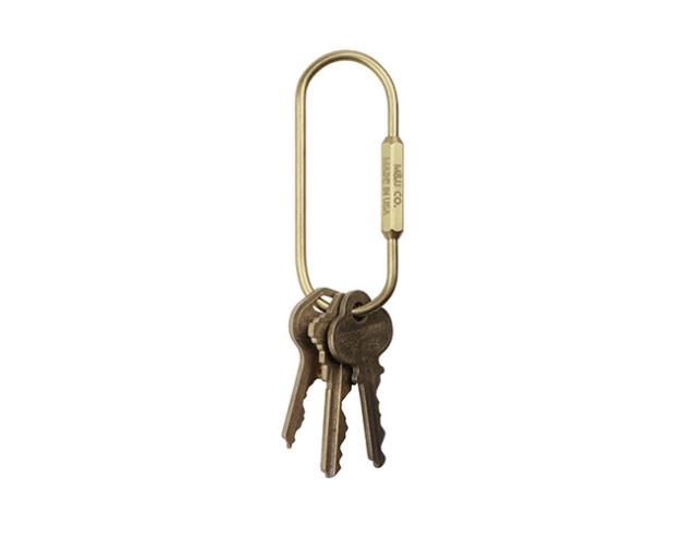 "Pill Shape Key Ring ""Brass"" ピルシェイプキーリング ""ブラス"""