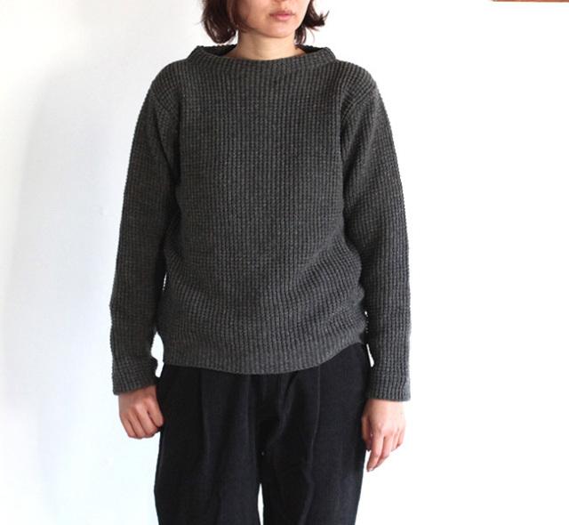 evam eva  エヴァムエヴァ wool aze stand pullover