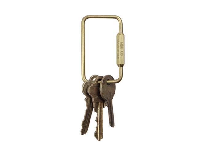 "Rectangle Key Ring ""Brass"" レクタングルキーリング ""ブラス"""