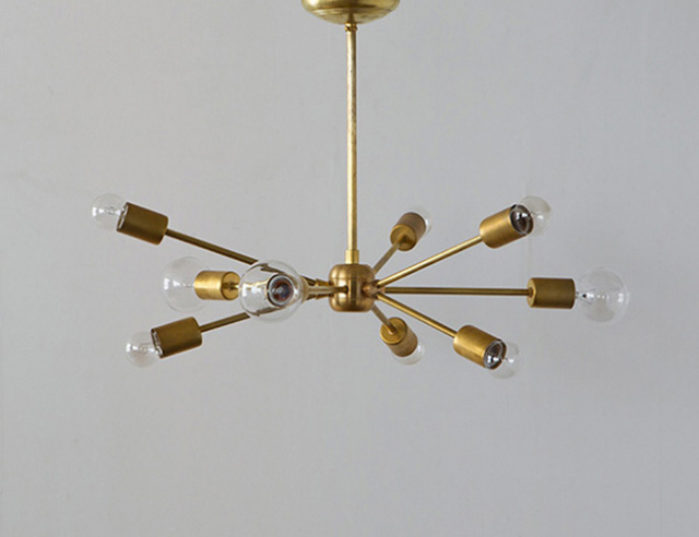 ACME FURNITURE アクメファニチャー SOLID BRASS LAMP 9ARM ソリッドブラスランプ9アーム