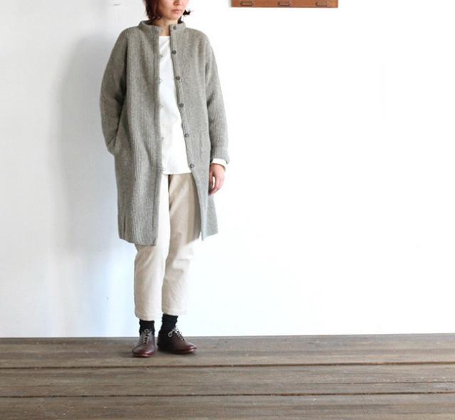 evam eva  エヴァムエヴァ wool aze coat