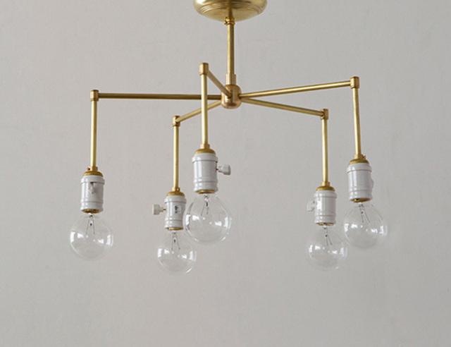 ACME FURNITURE アクメファニチャー SOLID BRASS LAMP 5ARM Porcelain ソリッドブラスランプ5アームポーセリン
