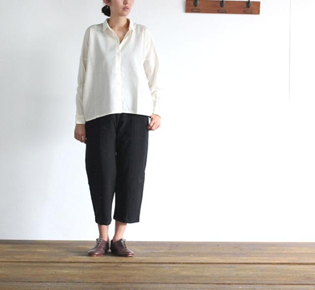 evam eva  エヴァムエヴァ cotton wool square shirt