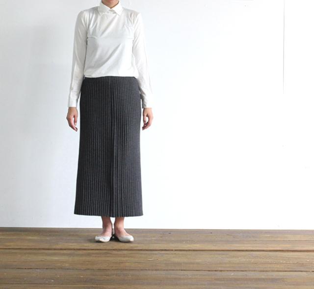 mizuiro-ind  ミズイロインド プリーツロングスカート