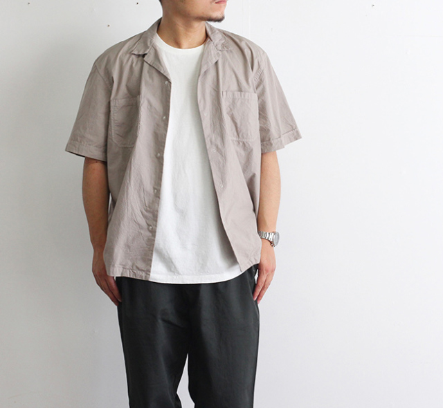 ordinary fits オーディナリーフィッツ CLERICAL SHIRT 開襟シャツ OM-S082