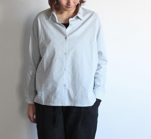 evam eva  エヴァムエヴァ cotton dolman shirt
