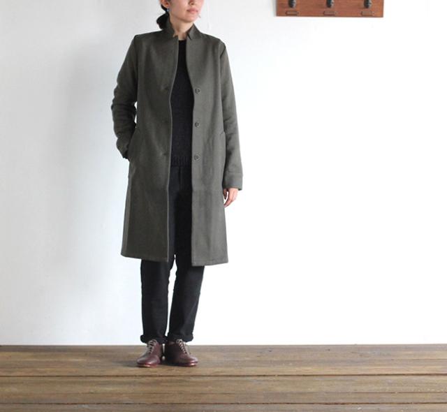 evam eva  エヴァムエヴァ peaked lapel long jacket