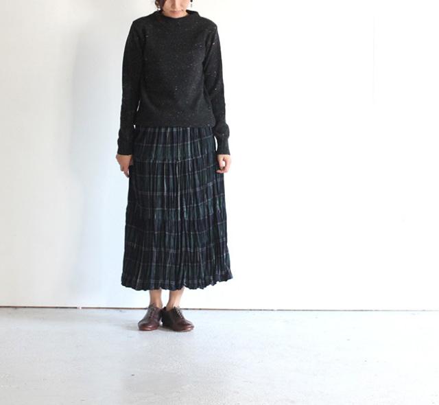 rockmount /ロックマウントプリーツスカート wool WGP green plaid
