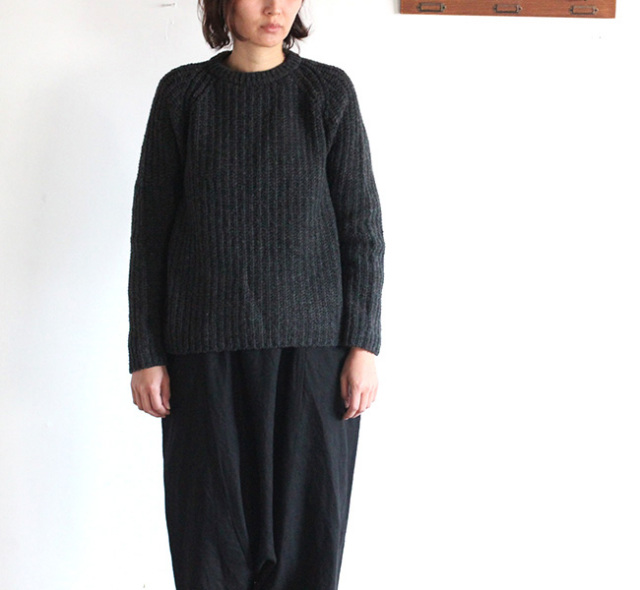 evam eva  エヴァムエヴァ roving wool pullover