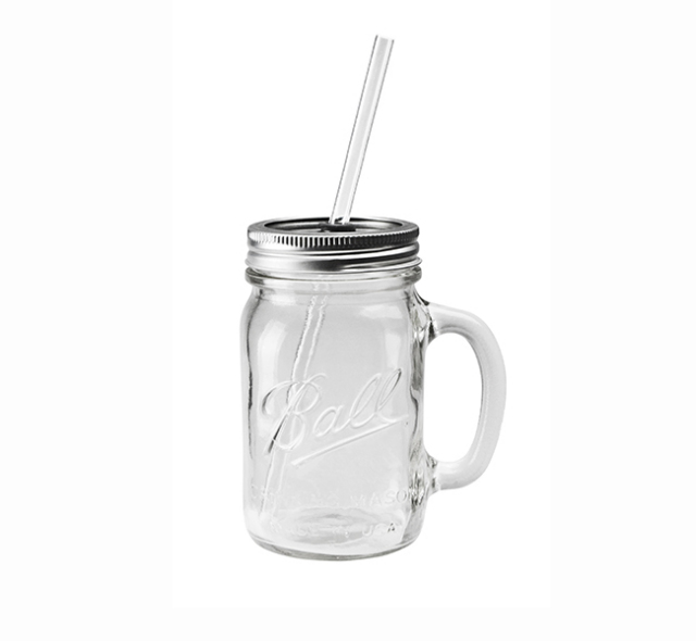 "Rednek Handled Glass Mug ""16oz"" レッドネックハンドルグラスマグ ""16オンス"""