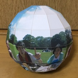 Made-to-order Approximate Sphere(Paper, Pop-up globe)