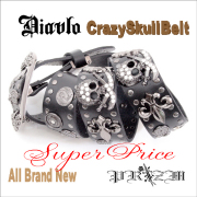 Diavlo Crazy Skull Belt
