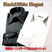 NewElegantDressShirt Black&White