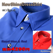 NewShineDressShirt Blue&Red