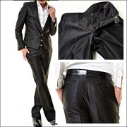 スーツ/V-MENブラック・クリスタルボタンスーツ