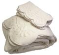 マリネットMARINETTE  ブティBOUTIS キルトベッドカバー、ベッドスプレッド240×260cmサイズ(MOUGINS・ホワイト)CVR_BT_LIT23::他サイズお取り寄せ可能