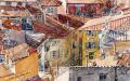 プロヴァンス風景絵画(Nice ニース, 旧市街の屋根)PT_MRT_15