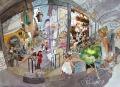 プロヴァンス風景絵画(Antibes アンティーブ, プロヴァンスのマルシェ) PT_MRT_24