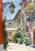 プロヴァンス風景絵画(Valbonne ヴァルボンヌ, ある小道) PT_MRT_27