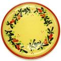 デザート皿2枚セット(花柄・レッド)ASS_RD04