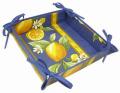 リボントレイ・リボントレイ・カルトナージュパニエ(レモン&小花柄・ブルー) CAR_P61