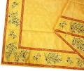 ジャガード織りプリント柄フレームマルチカバー、フレームクロス正方形、長方形全6サイズ(オリーブ2005・イエロー×レッド)CVR_09【オーダーメイドも】