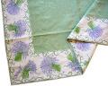 ジャガード織りプリント柄フレームマルチカバー、フレームクロス正方形、長方形全6サイズ(ラベンダーパープル・ホワイト)CVR_10【オーダーメイドも】