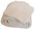 マリネットMARINETTE  ブティBOUTIS キルトベッドカバー、ベッドスプレッド 180×260cmサイズ(BAROQUE・アイボリー)CVR_BT_LIT15