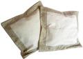 ジャガード織りフレームクッションカバー45×45cmサイズ(小花柄・ベージュ×ホワイト) 【フランス】HOU_C47