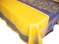 プロヴァンステーブルクロスジャガード織りテフロン撥水加工 Marat d'Avignon マラダヴィニョン(カプリス・イエロー×ブルー)全5サイズ【フランス】 NAP_20_196e