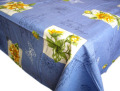 プロヴァンスプリントテーブルクロス撥水加工(ひまわり・ブルー)150×250cmサイズ【フランス】 NAP_25_290e