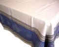 プロヴァンステーブルクロスジャガード織りテフロン撥水加工(ラベンダーセナンク・オフホワイト×ブルー)全5サイズ【フランス】 NAP_25_294e