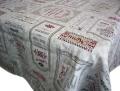 プロヴァンスワインラベルジャガード織りテーブルクロス(Chez Georges シェ・ジョルジュ)160×250cmサイズ【フランス】 NAP_25_302 ::他サイズお取り寄せ可能