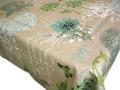リネン麻撥水加工プロヴァンステーブルクロス (Clarissa クラリッサ・ブルー)140×250cmサイズ【フランス】 NAP_25_311e