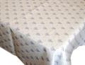 プロヴァンステーブルクロスジャガード織りテフロンダブル撥水加工150×250cmサイズ(ヴァントゥー・オフホワイト×パープル)【フランス】 NAP_25_318e