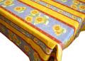 プロヴァンスプリントテーブルクロス撥水加工(ボーソレイユ・ブルー)150×200cmサイズ【フランス】 NAP_20_56e