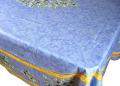 プロヴァンスプリントテーブルクロス撥水加工(オリーブ2005・ブルー×イエロー)160×250cmサイズ【フランス】 NAP_25_74e