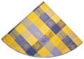ラウンド・円形テーブルクロス丸テーブル円卓用ジャガード織りテフロン撥水加工直径180cmサイズ(オリーブルールマラン・イエロー×ブルー)【フランス】NAP_R124e