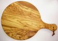 ピザ用オリーブの木のまな板円形、丸、ラウンドオリーブウッドカッティングボード Dモデル【イタリア製】 PLC_D34