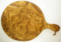 ピザ用オリーブの木のまな板円形、丸、ラウンドオリーブウッドカッティングボード Dモデル【無垢一枚板イタリア製】 PLC_D51