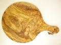 ピザ用オリーブの木のまな板円形、丸、ラウンドオリーブウッドカッティングボード Dモデル【無垢一枚板イタリア製】 PLC_D67