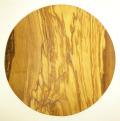 ピザ用オリーブの木のまな板円形、丸、ラウンドオリーブウッドカッティングボード Dモデル 直径30cm 【無垢一枚板イタリア製】 PLC_D70