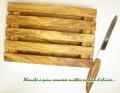 オリーブの木のパン用カッティングボード・パン切り包丁付きプチモデル オリーブウッド PLC_PN5