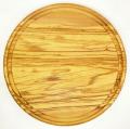肉用溝つきオリーブの木のまな板、円形ラウンド丸いまな板カッティングボード直径25cmサイズ【無垢一枚板イタリア製】オリーブウッド木製PLC_VD05