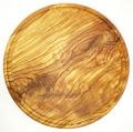 肉用溝つきオリーブの木のまな板、円形ラウンド丸いまな板カッティングボード直径25cmサイズ【無垢一枚板イタリア製】オリーブウッド木製PLC_VD07