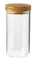 オリーブ木とガラスのキャニスター 900ml PT_OVR_02