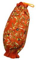 プロヴァンス柄ビニール袋・レジ袋ストッカー(オリーブ2005・テラコタオレンジ)SAC_S44
