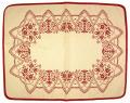 先染めジャガード織りプレイスマット(サヴォワ・ベージュ×ボルドー)【フランス】 ノルディック柄 SET_LX34