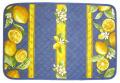 プロヴァンスキルティングランチョンマット:ランチマット:プレイスマット:テーブルマット(レモン&小花柄・ブルー)SET_T56【フランス】