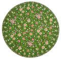 ヴァルドローム VALDROME 円形ラウンドフレームテーブルマット直径40cmサイズ(リベルティ・グリーン)【フランス】VAL_TP_RD01